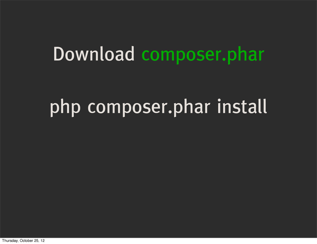 Download composer.phar php composer.phar instal...