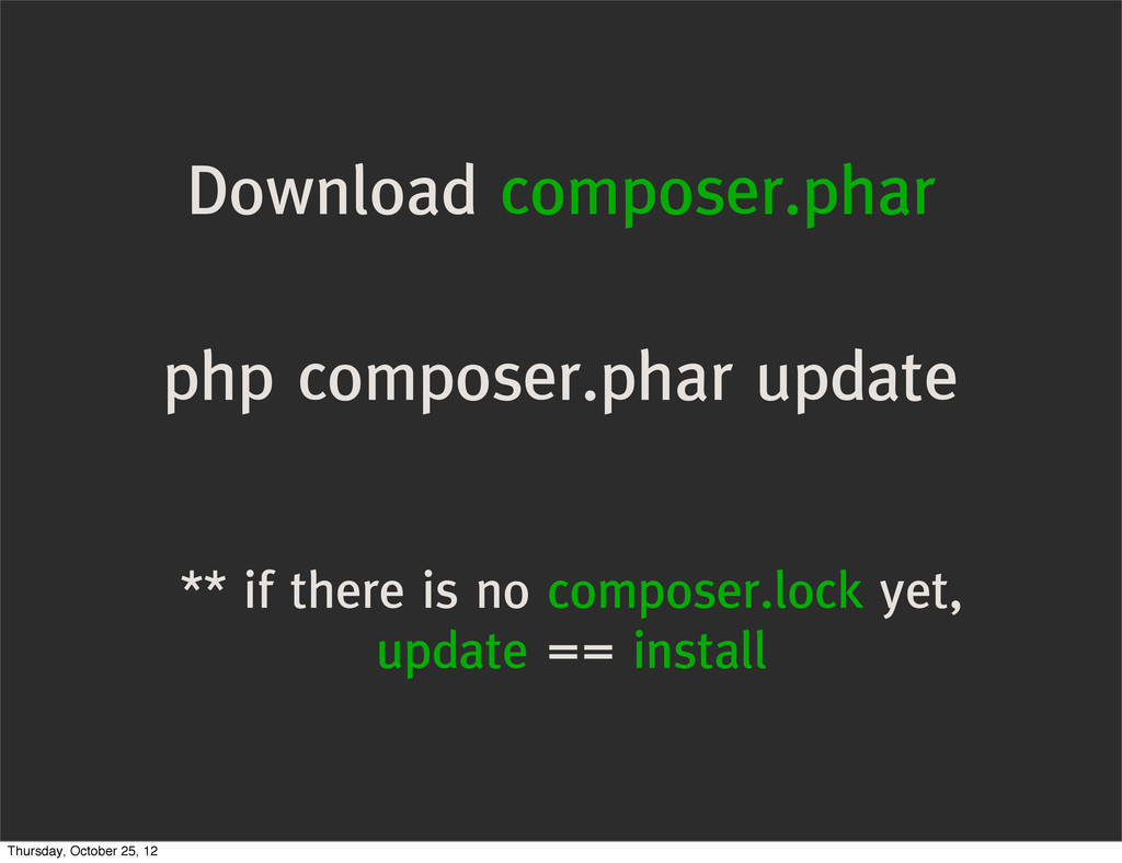 Download composer.phar php composer.phar update...
