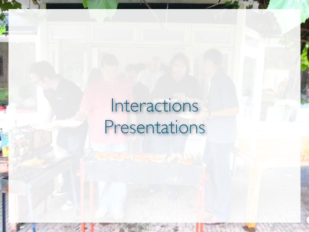 Interactions Presentations