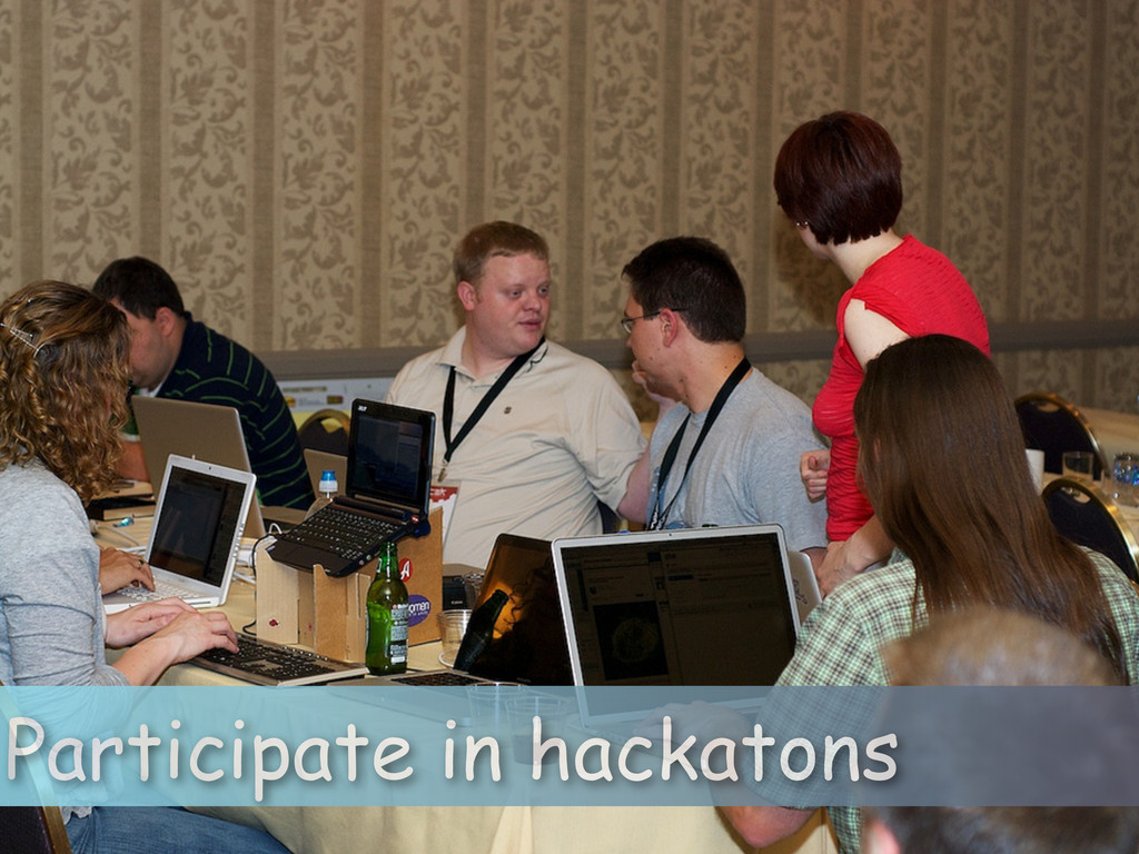 Participate in hackatons