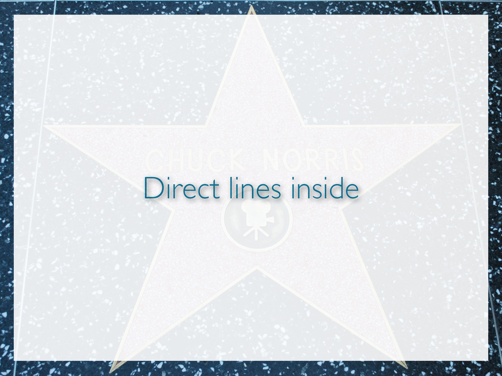 Direct lines inside
