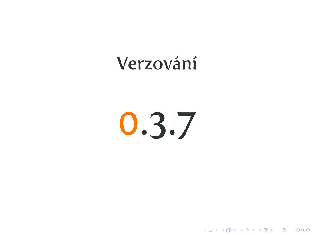 Verzování 0.3.7