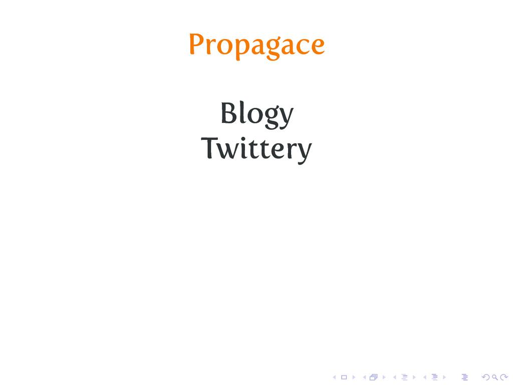 Propagace Blogy Twittery
