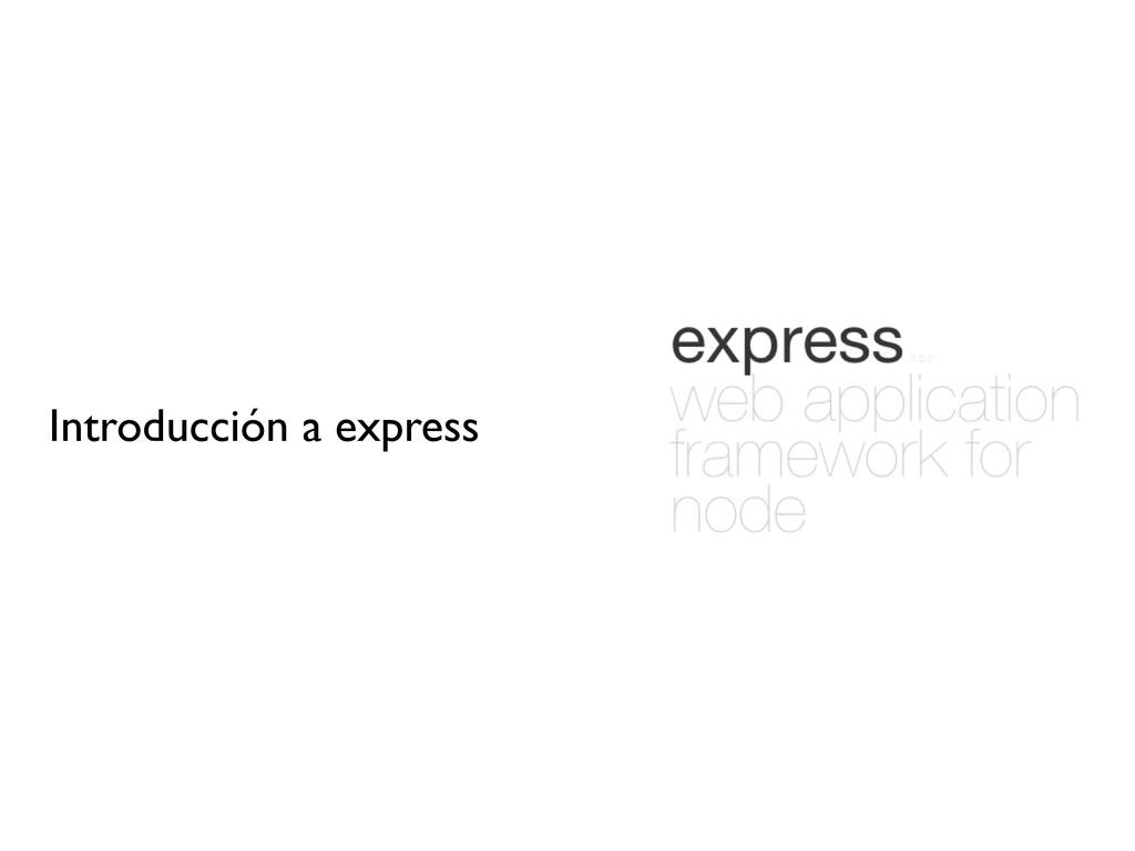 Introducción a express
