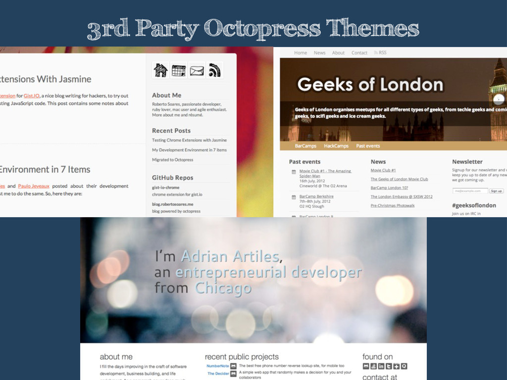3rd Party Octopress Themes