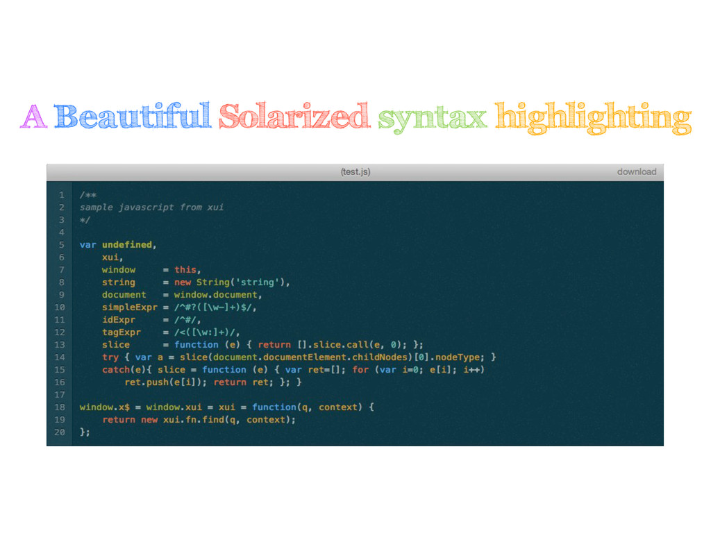 A Beautiful Solarized syntax highlighting