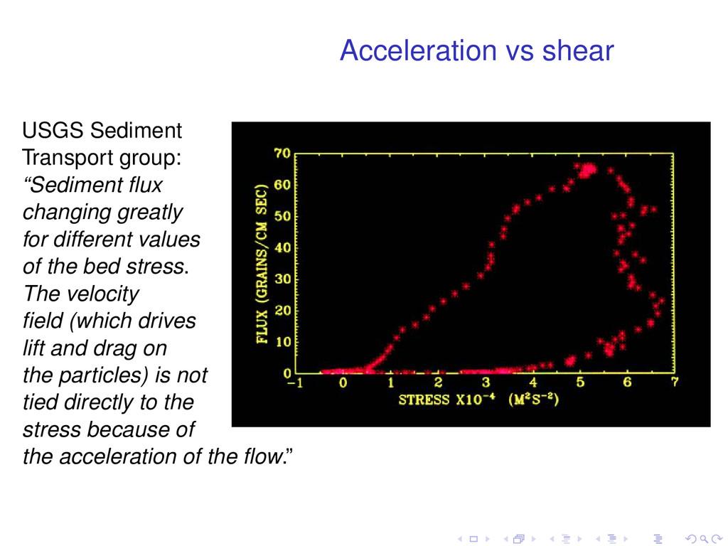 Acceleration vs shear USGS Sediment Transport g...