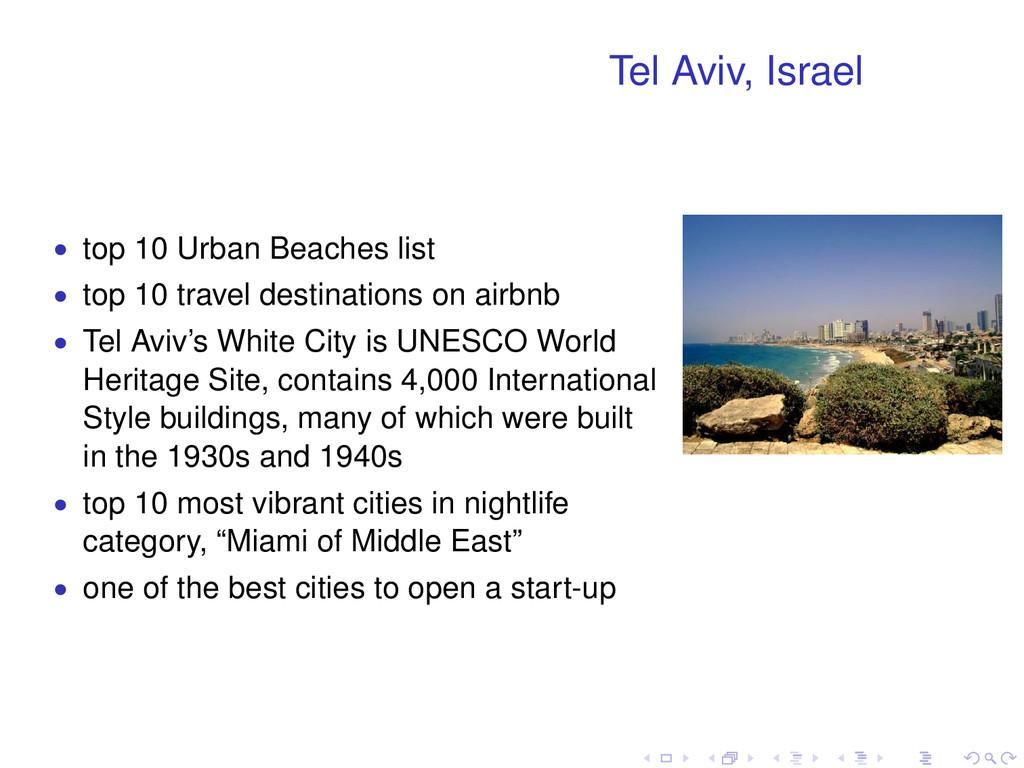 Tel Aviv, Israel • top 10 Urban Beaches list • ...
