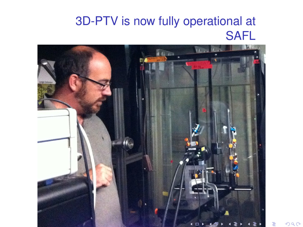 3D-PTV is now fully operational at SAFL . . . ....