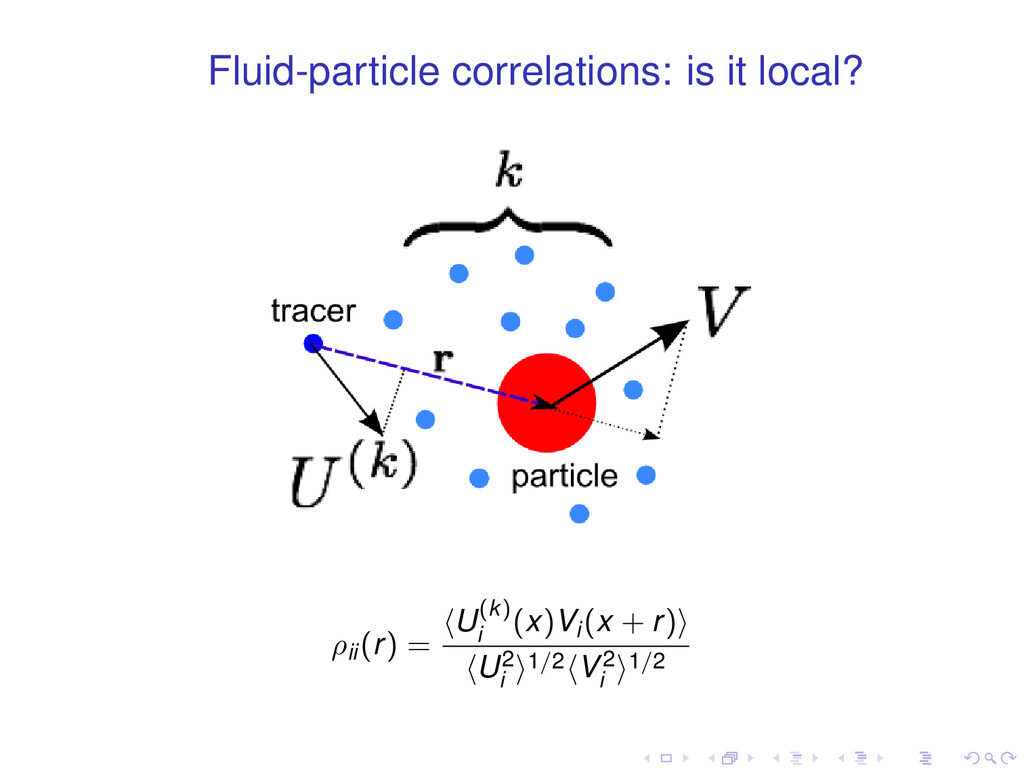 Fluid-particle correlations: is it local? ρii(r...