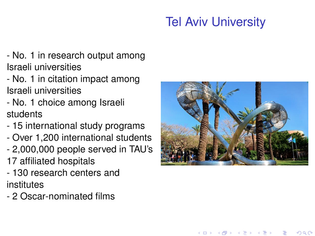 Tel Aviv University - No. 1 in research output ...