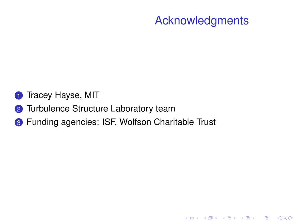 Acknowledgments . . 1 Tracey Hayse, MIT . . 2 T...