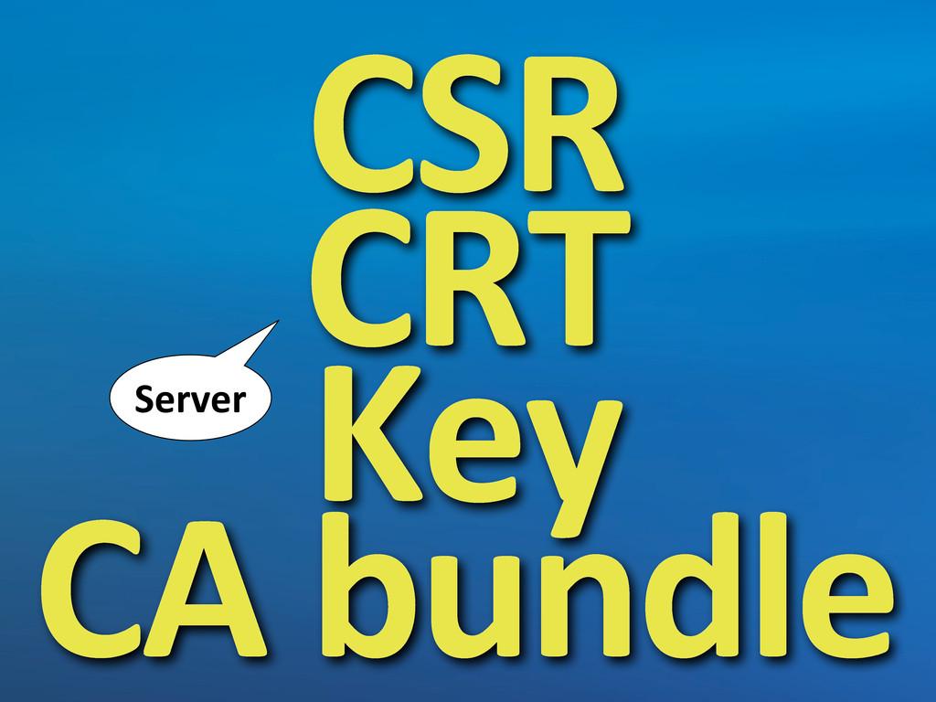 CSR CRT Key CA bundle Server