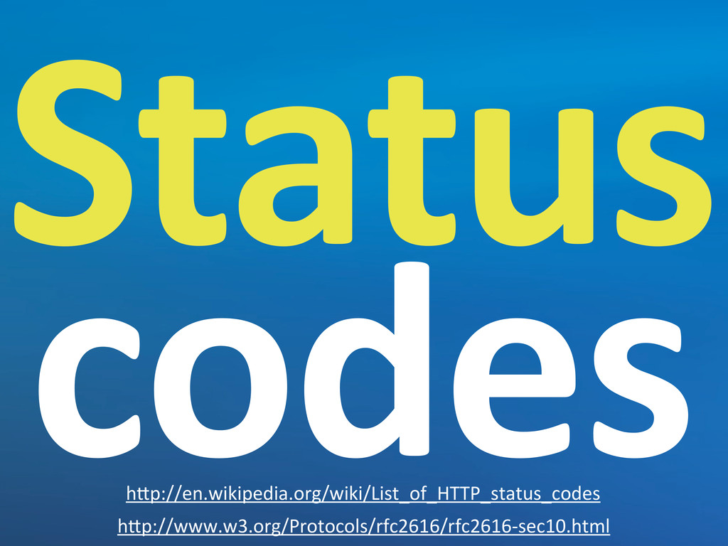 "Status  codes h""p://www.w3.org/Protocols/rfc..."