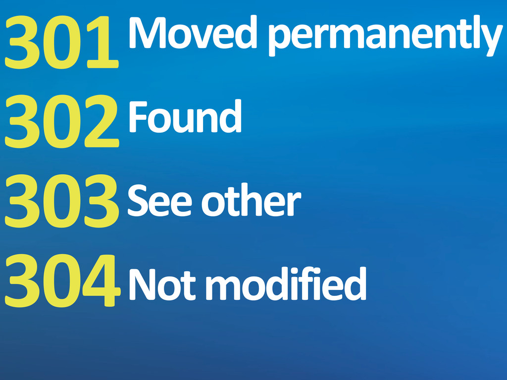 301 302 303 304 Moved permanently Found See...