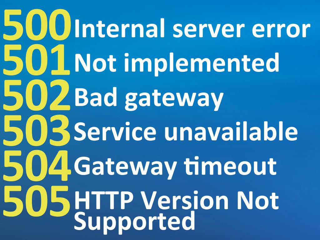 500 501 502 503 504 505 Internal server e...
