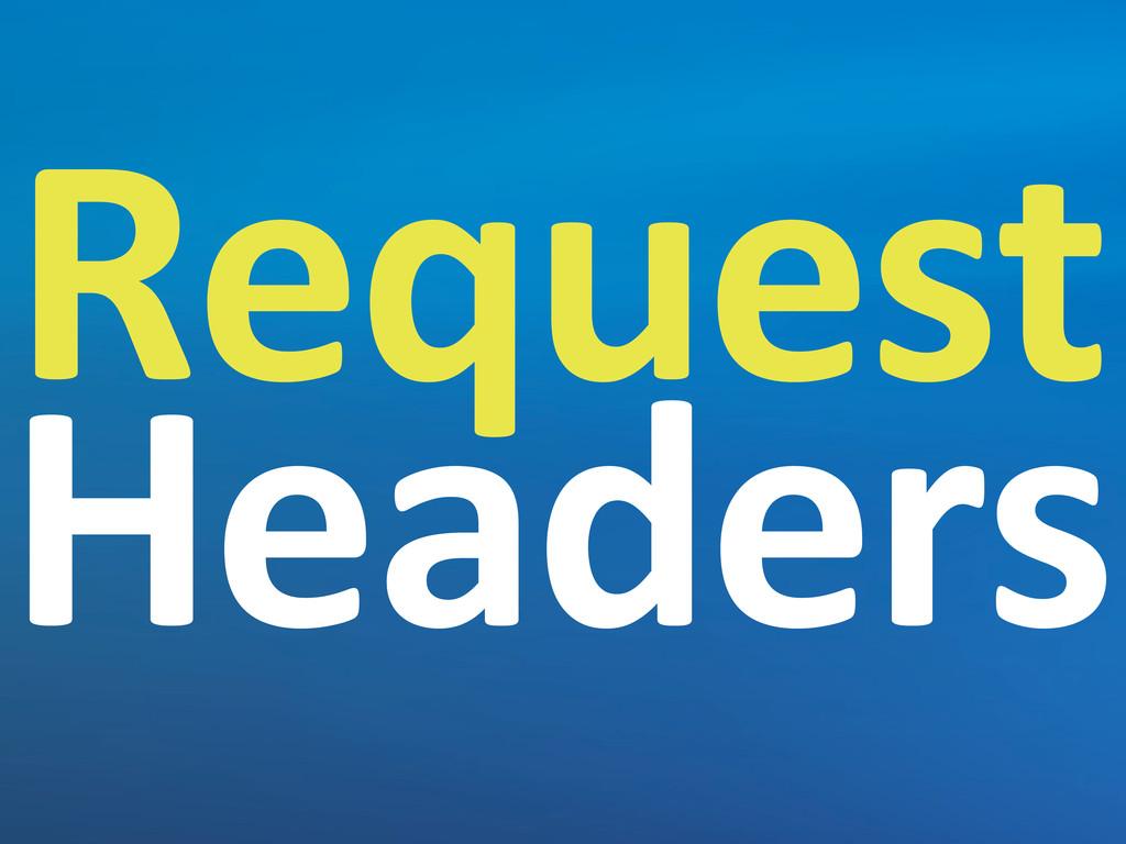 Request Headers