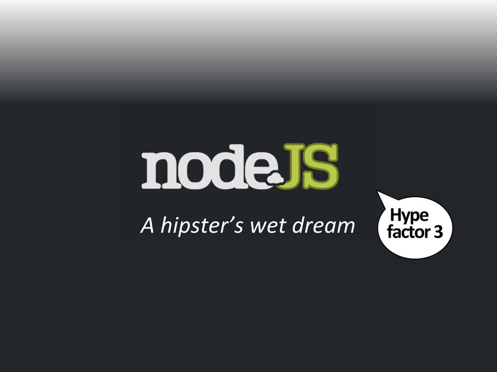 Hype  factor 3 A hipster's wet d...