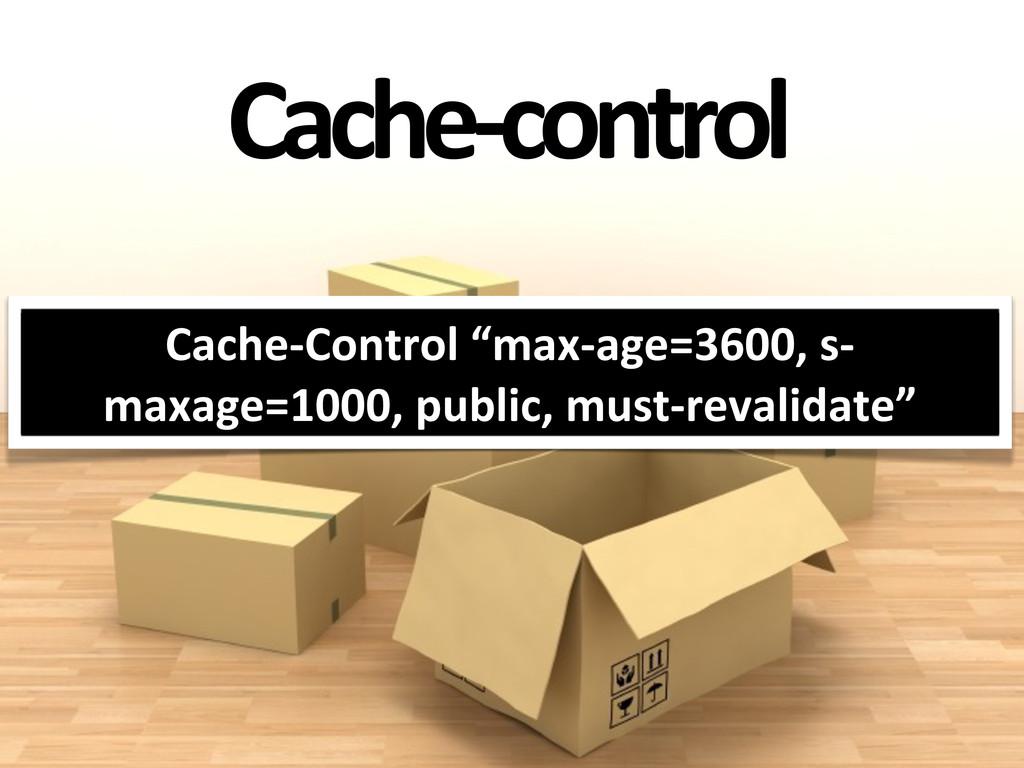 """Cache-‐control Cache-‐Control """"max-‐age=3..."""