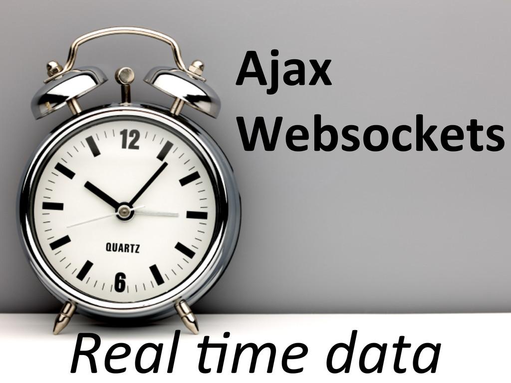 Real 2me data Ajax Websockets