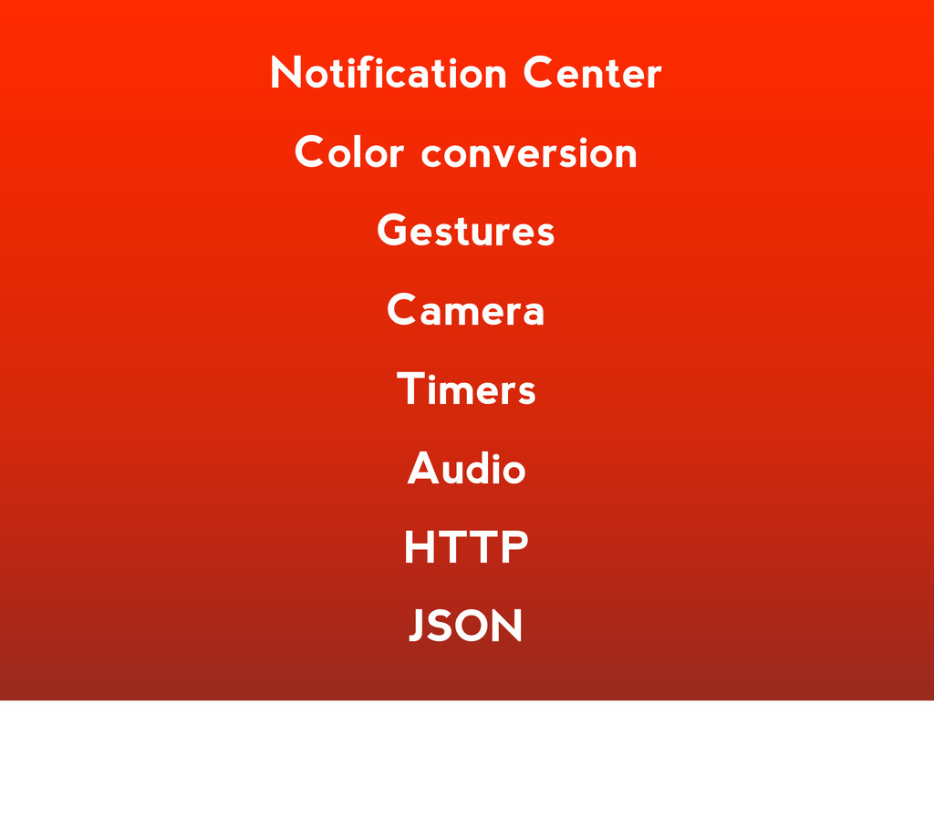 Notification Center Color conversion Gestures C...