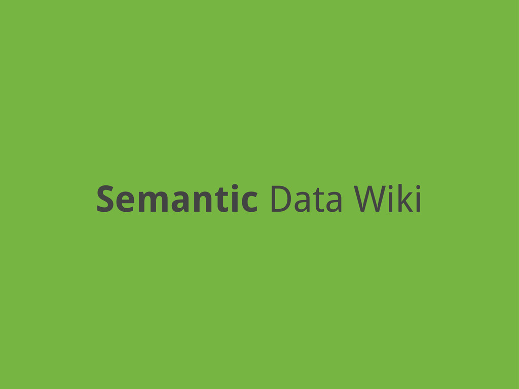 Semantic Data Wiki