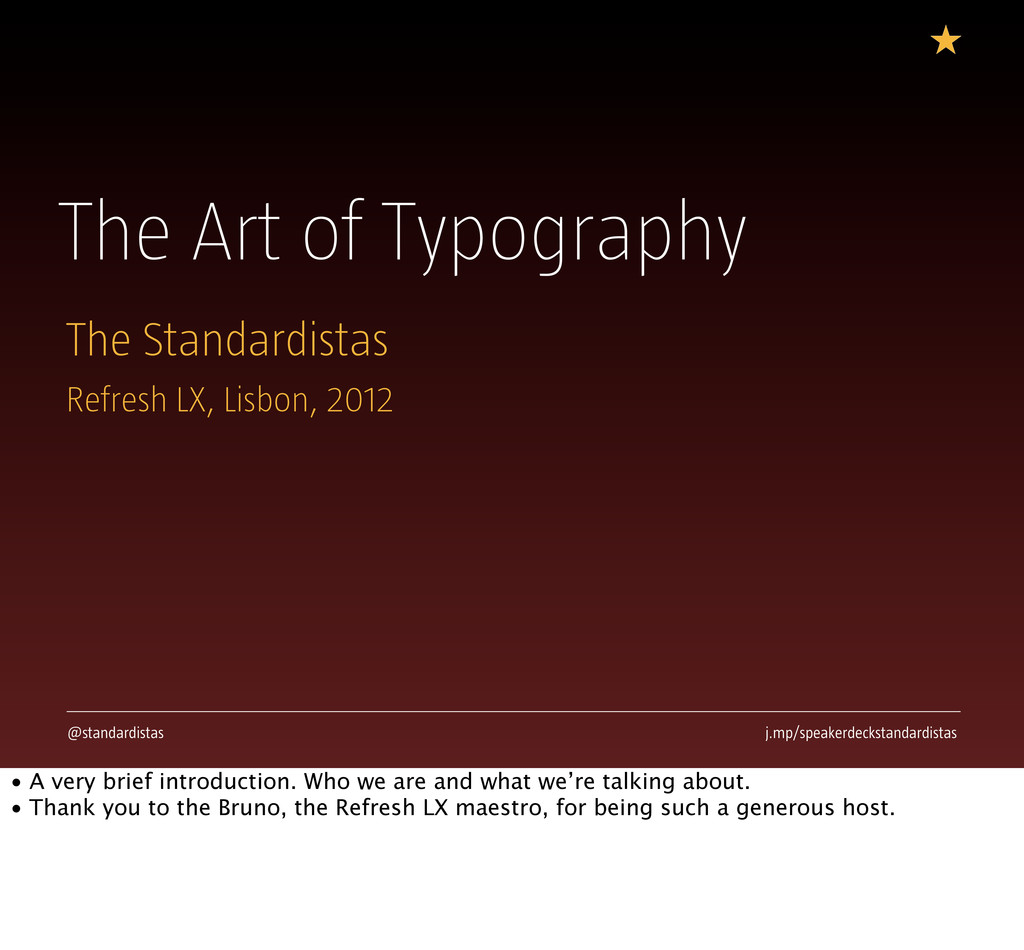 The Art of Typography The Standardistas @standa...