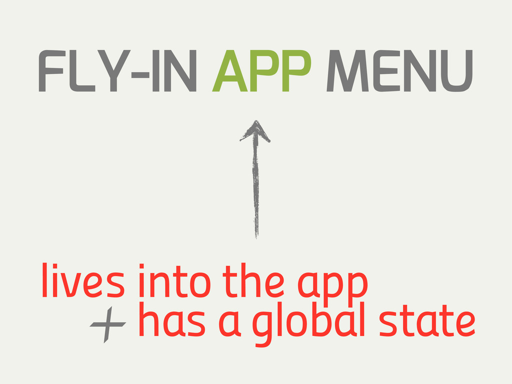FLY-IN APP MENU has a global state lives into t...
