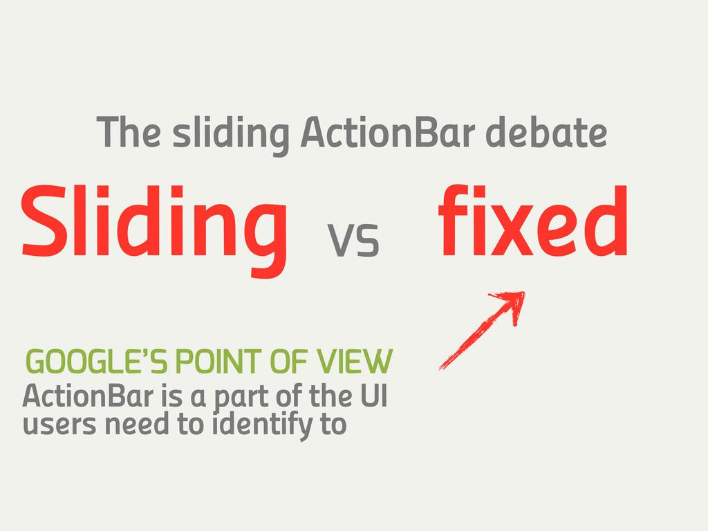 VS The sliding ActionBar debate fixed Sliding A...