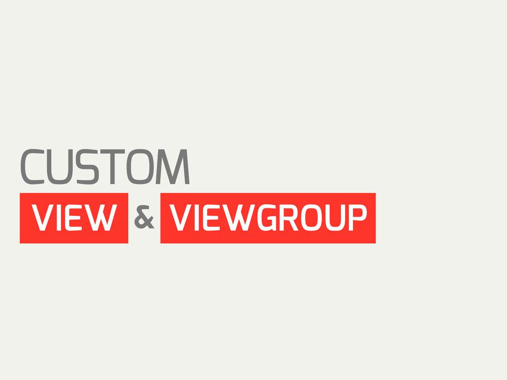 CUSTOM VIEW VIEWGROUP &