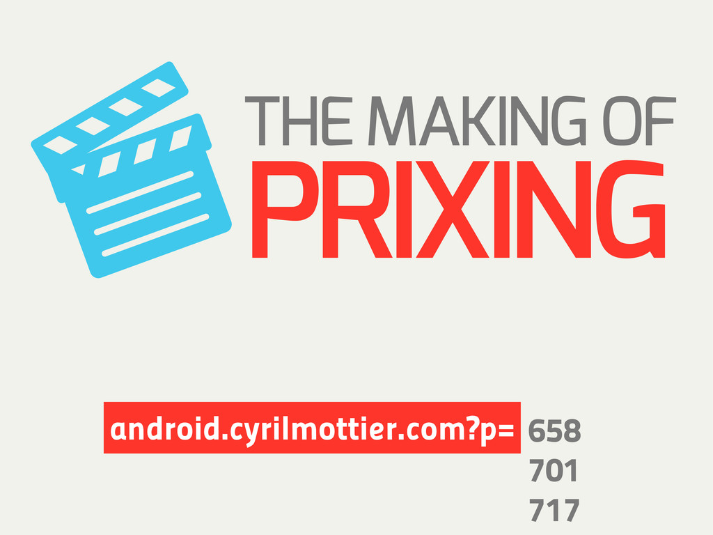 THE MAKING OF PRIXING 658 701 717 android.cyril...