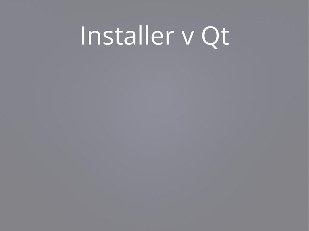 Installer v Qt