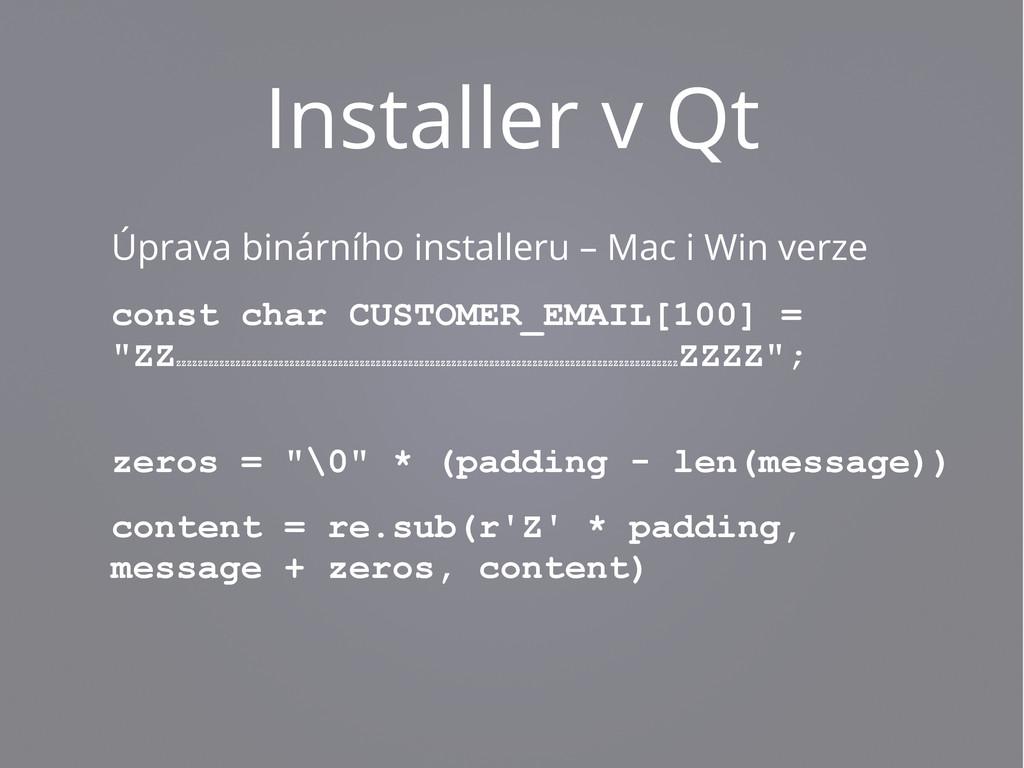 Installer v Qt Úprava binárního installeru – Ma...