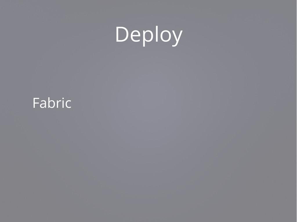 Deploy Fabric