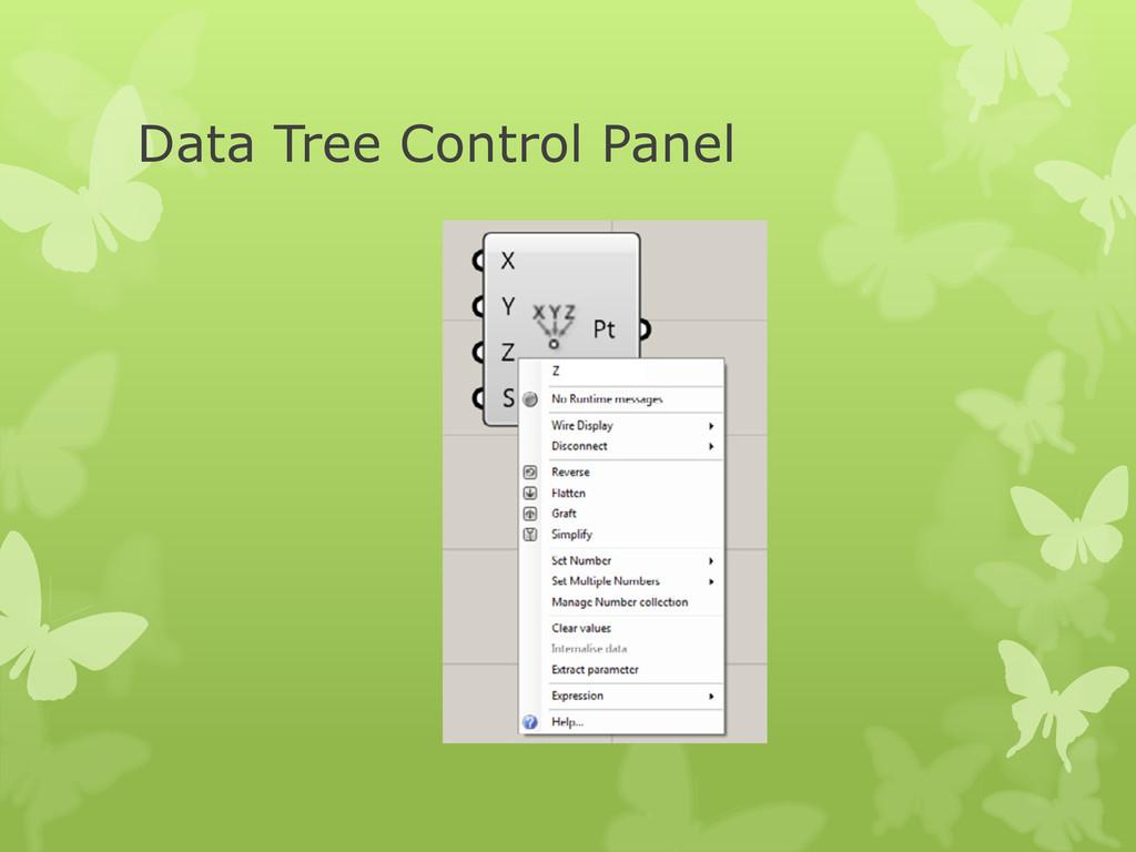 Data Tree Control Panel