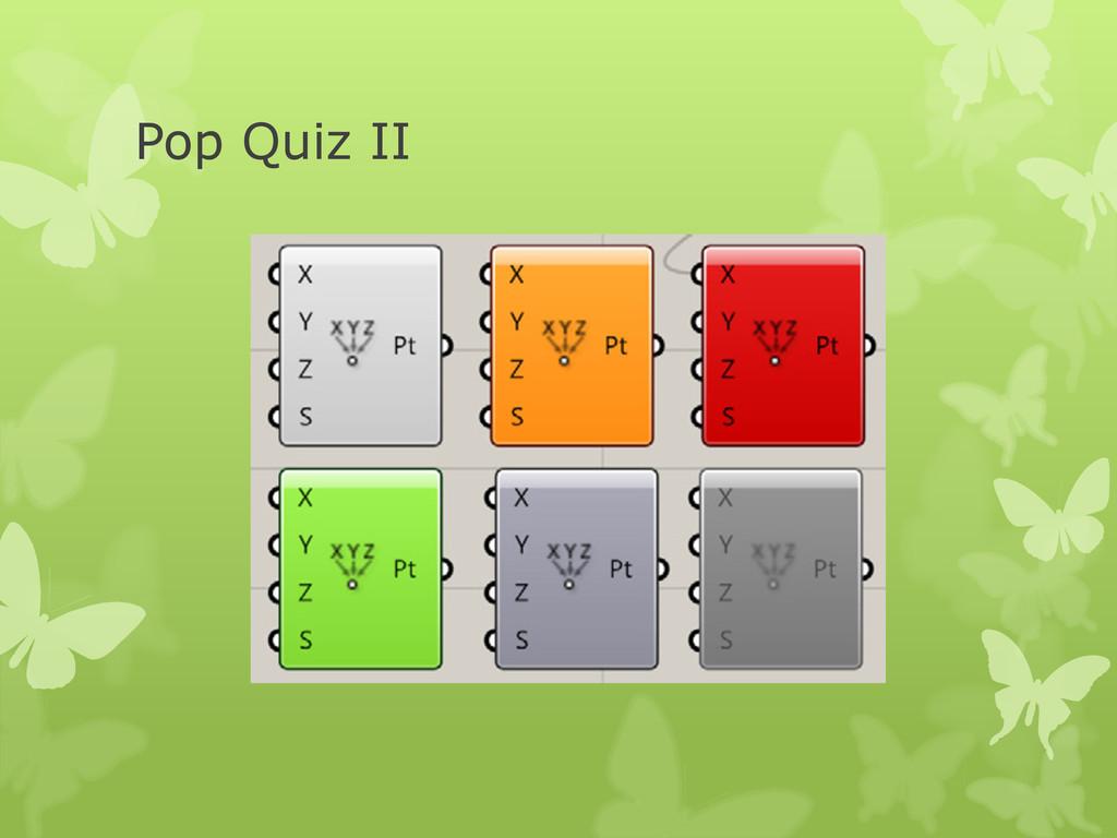 Pop Quiz II