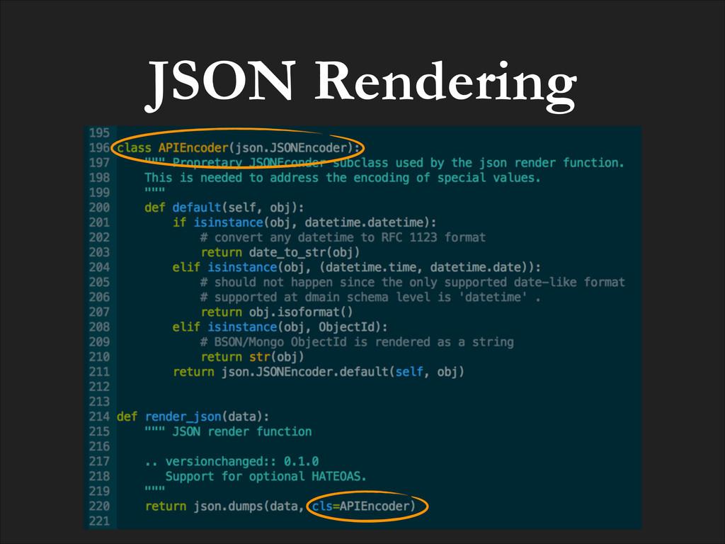 JSON Rendering