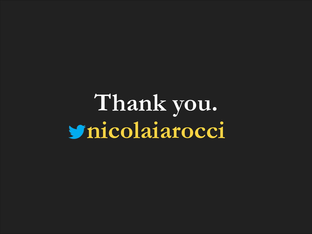 Thank you. nicolaiarocci