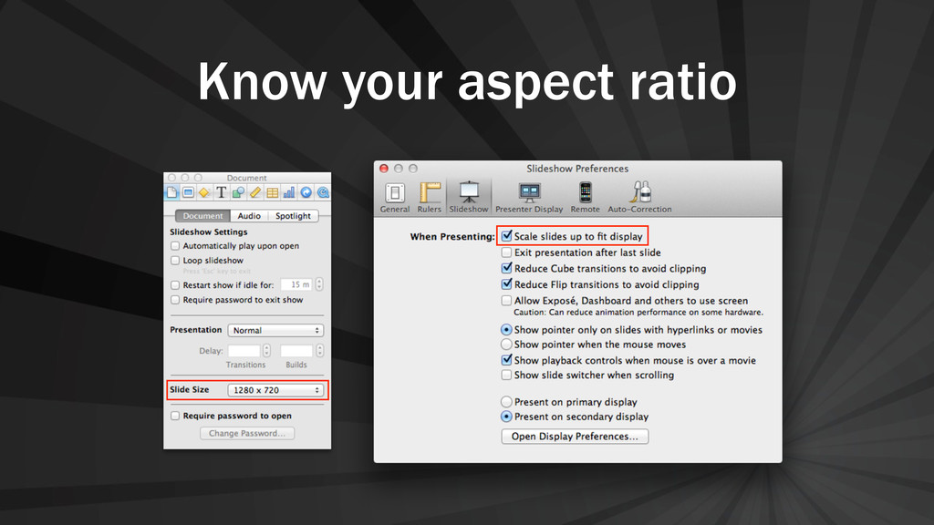 Know your aspect ratio