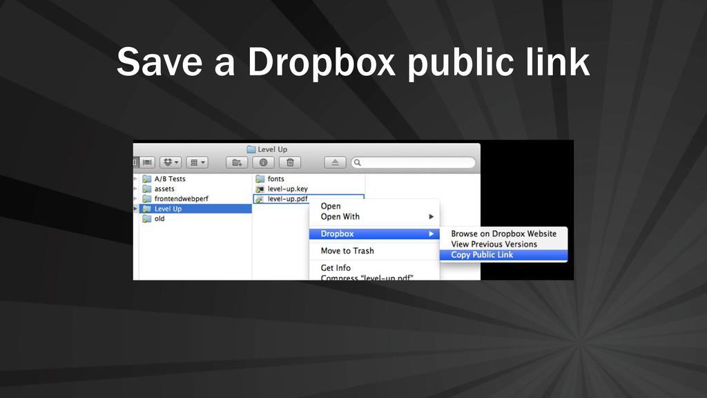 Save a Dropbox public link