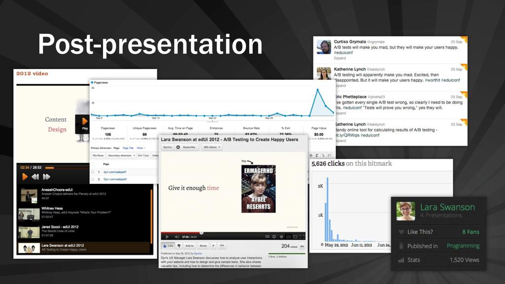 Post-presentation