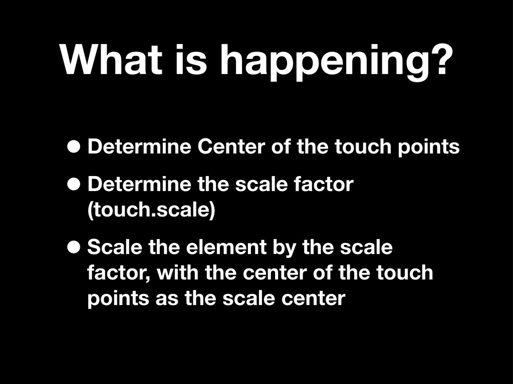 What is happening? •Determine Center of the tou...