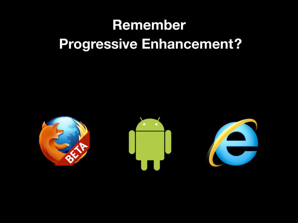 Remember Progressive Enhancement?