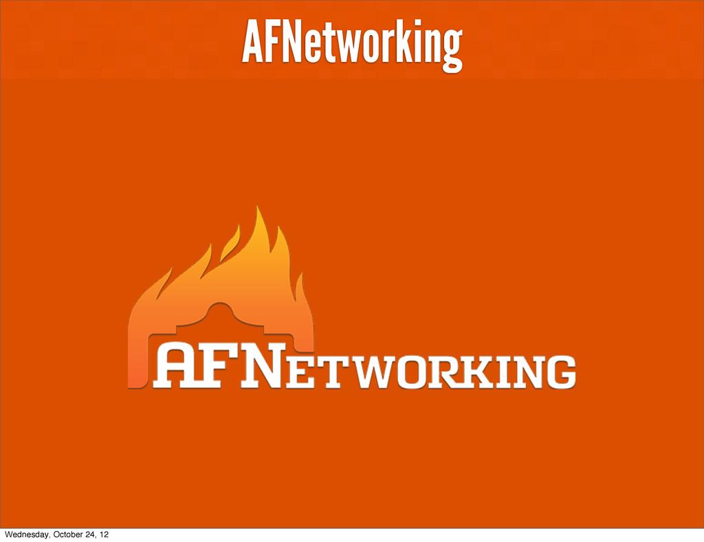AFNetworking Wednesday, October 24, 12