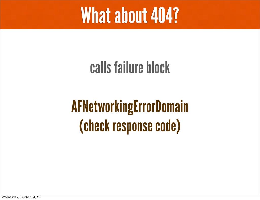 What about 404? AFNetworkingErrorDomain (check ...