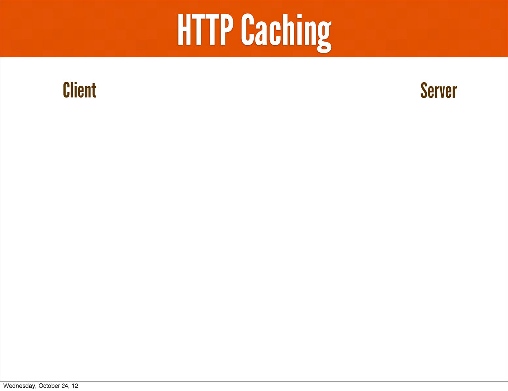 HTTP Caching Client Server Wednesday, October 2...