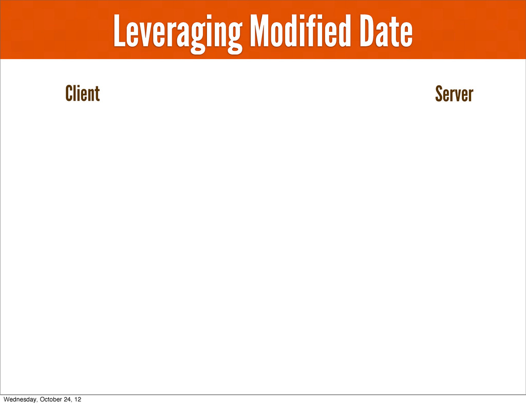 Leveraging Modified Date Client Server Wednesda...