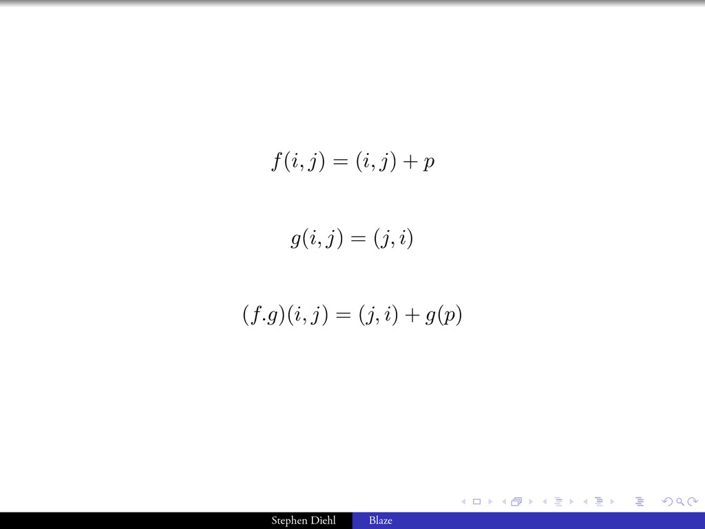 . . . . . . f(i, j) = (i, j) + p g(i, j) = (j, ...