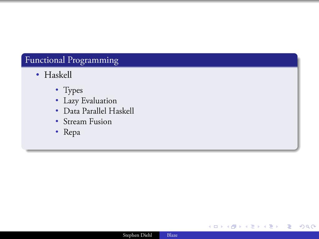 . . . . . . . Functional Programming . . . . . ...
