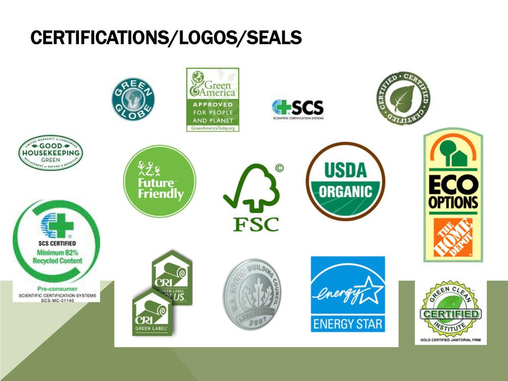 CERTIFICATIONS/LOGOS/SEALS
